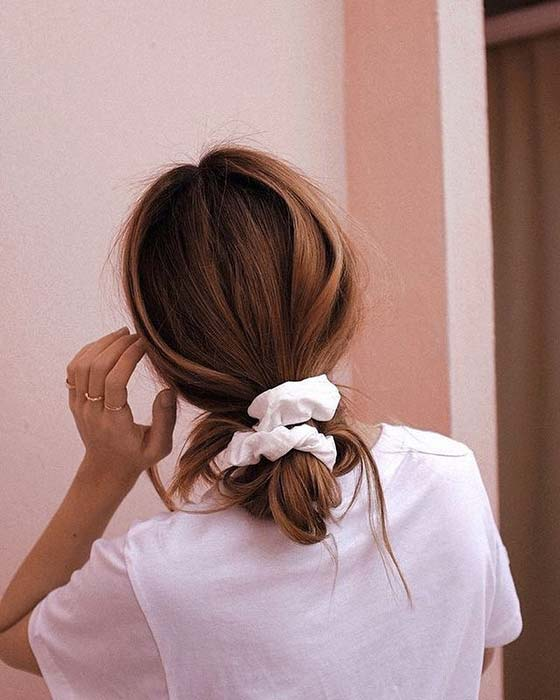 Low Bun with a Scrunchie