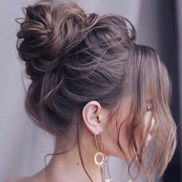 Messy High Bun for Special Occasions