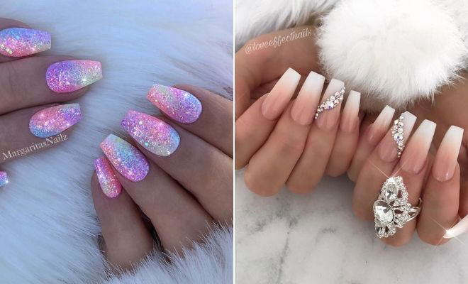 43 Crazy,Gorgeous Nail Ideas for Coffin Shaped Nails