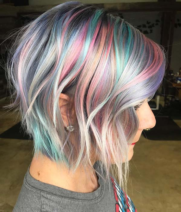 Pastel Colors and a Trendy Cut
