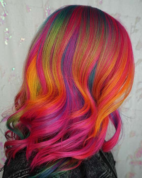 Pink Rainbow Hair Idea