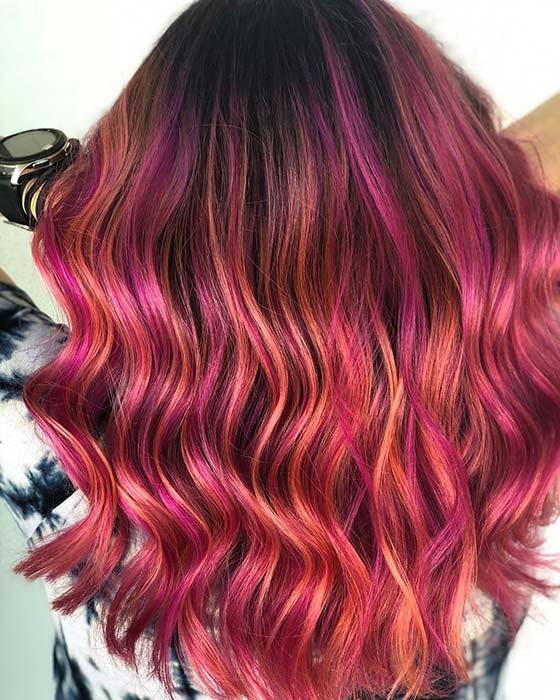 Pink and Orange Highlights Idea
