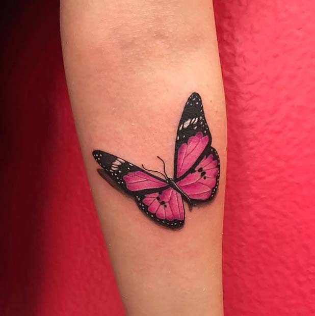 Pretty Pink Butterfly Design