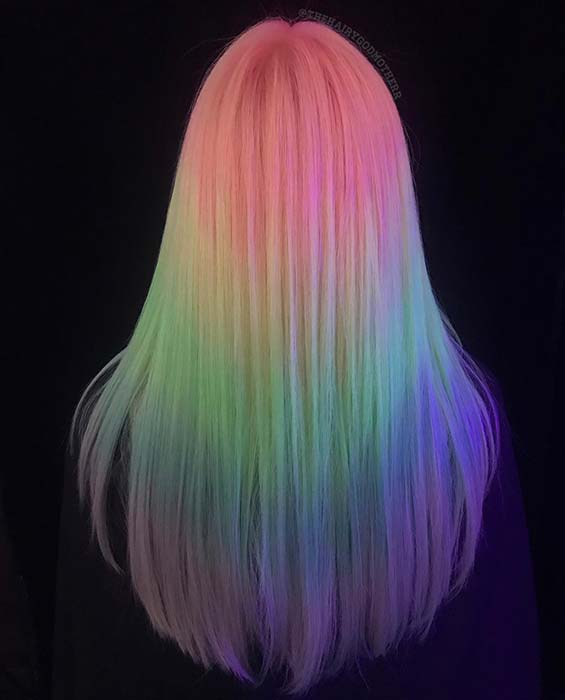 Rainbow Hair with a Glow