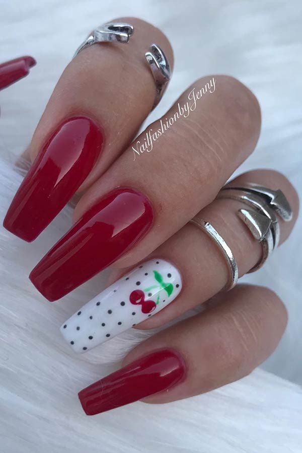 23 Best Red Acrylic Nail Designs Of 2019 Stayglam
