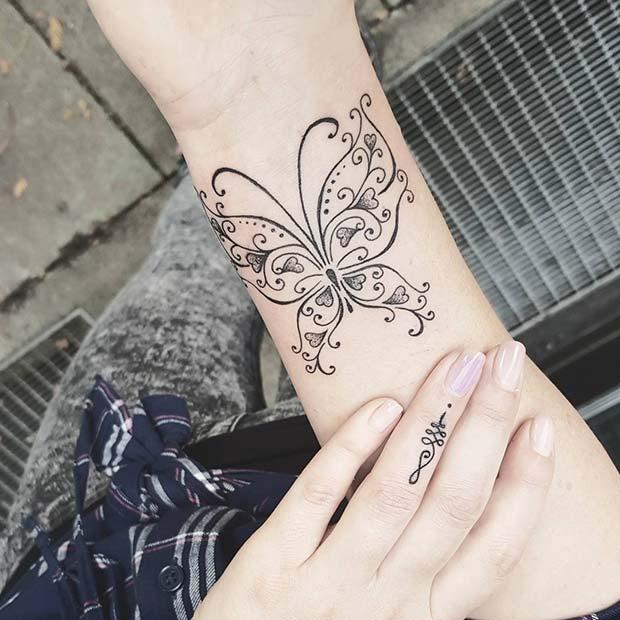 Romantic Butterfly Design