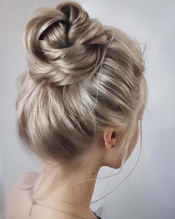 Simple High Bun Updo Idea