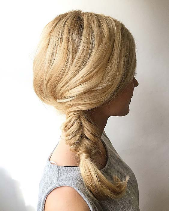 Simple and Easy Side Braid Look