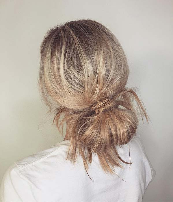 Simple and Easy to Wear Low Bun