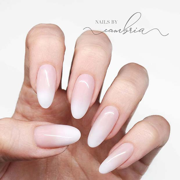 Simple and Stylish Baby Boomer Nails