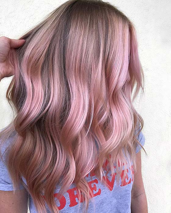 Soft and Light Pink Highlights