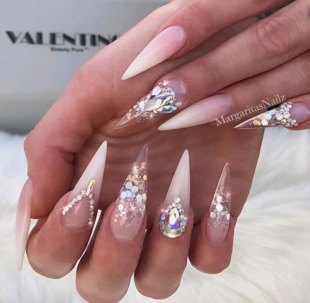 Sparkly and Stylish Nail Idea