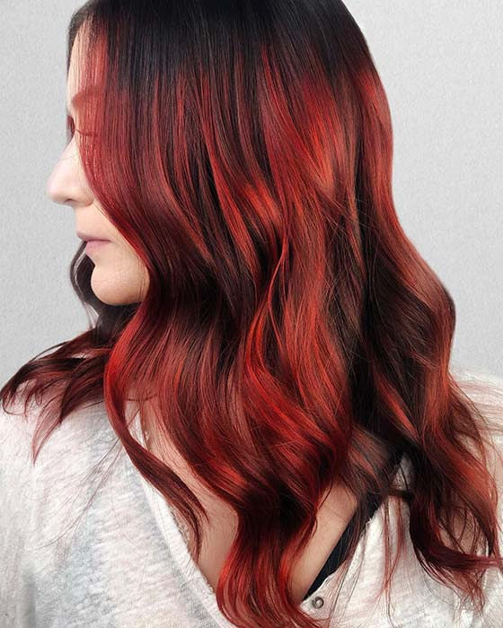 Spicy Red Highlights