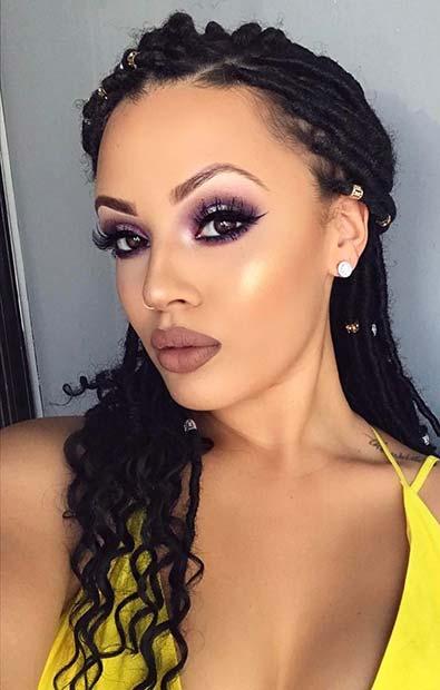 Stylish Half Up Hairstyle