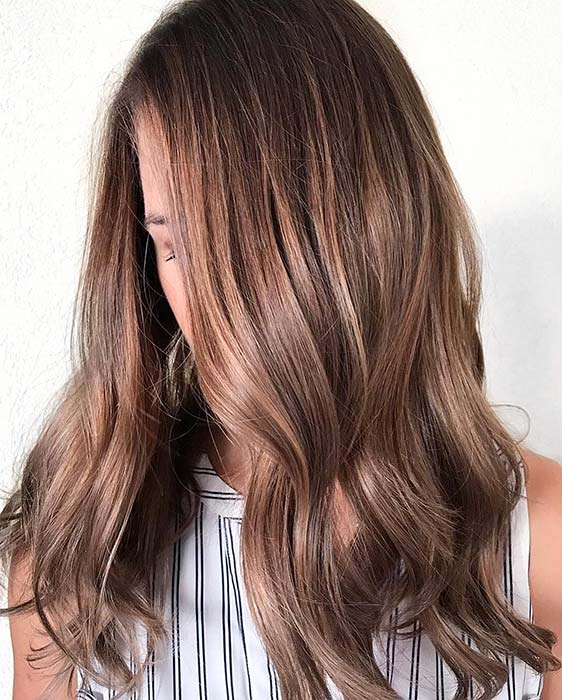 Stylish Light Brown Highlights