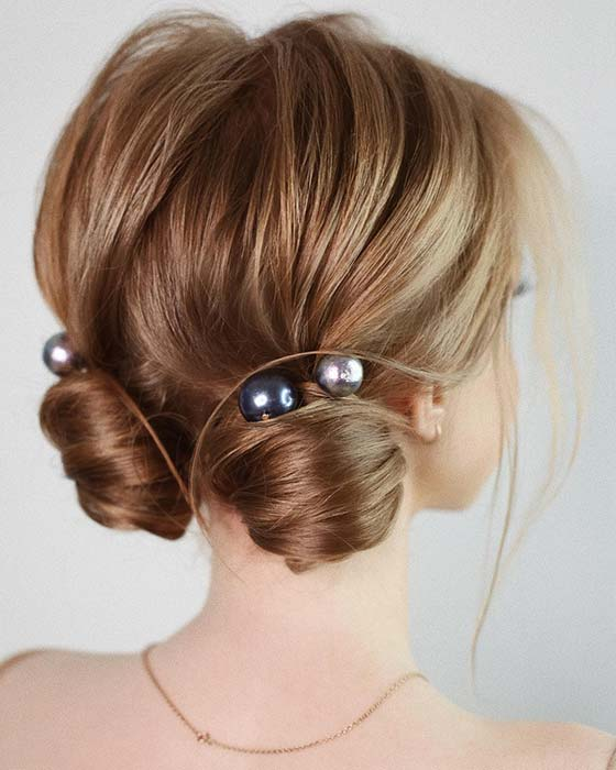 Stylish Two Bun Updo
