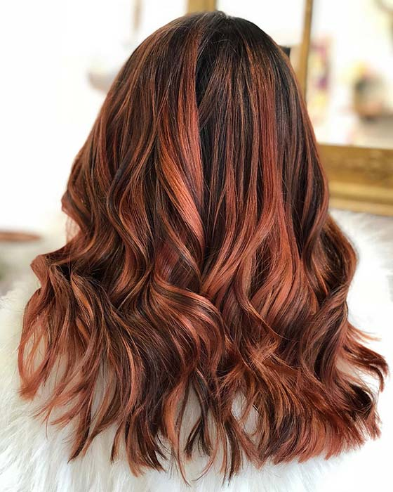 Trendy Dark Copper Highlights