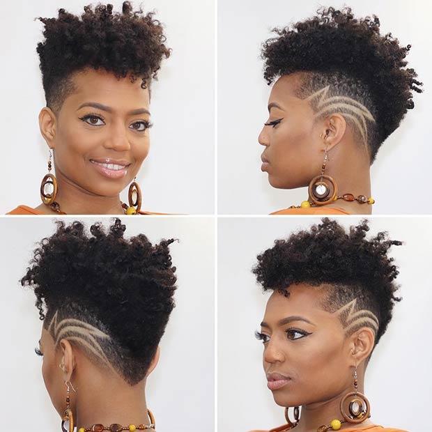 Trendy Undercut for Short Natural Hair
