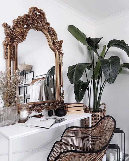 Trendy Vanity Table Idea