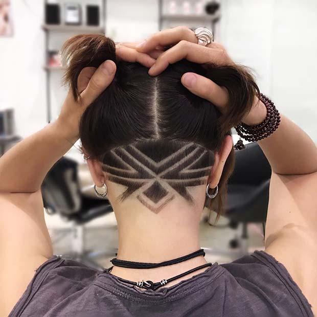 Undercut with Geometric Pattern