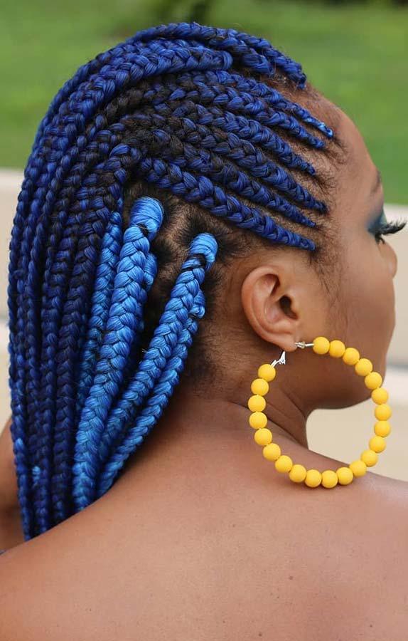 Vibrant Blue Braids