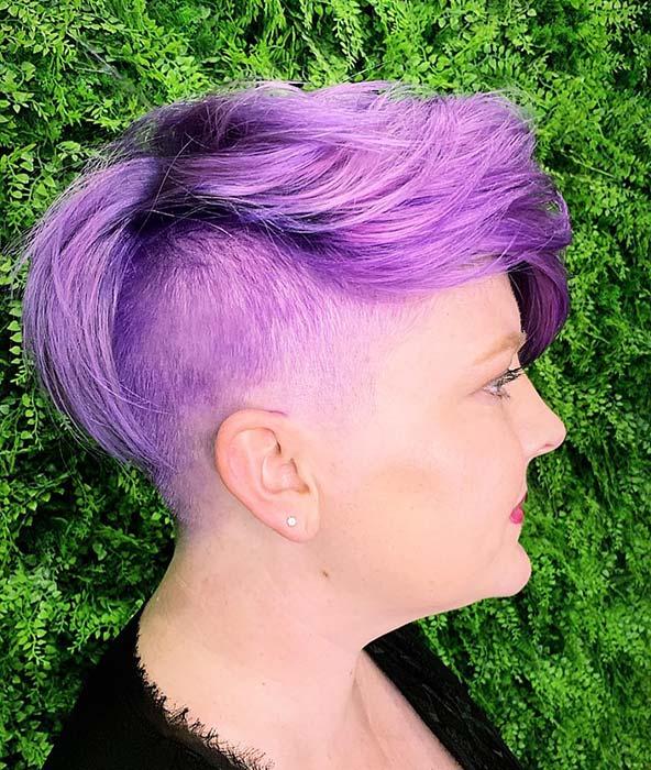 Vibrant Purple Hair Idea