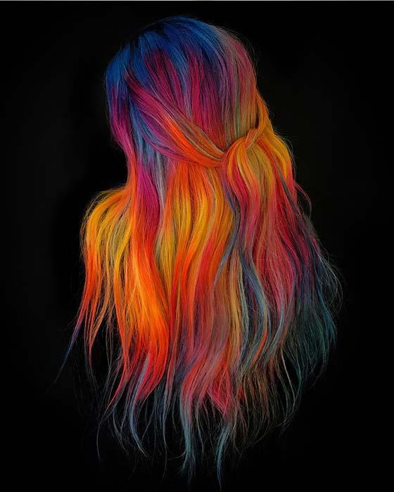 Vibrant Rainbow Hair