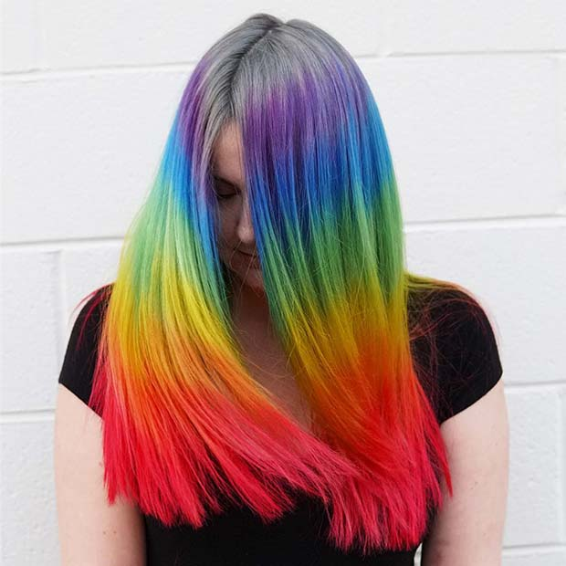 Vibrant Rainbow Stripes