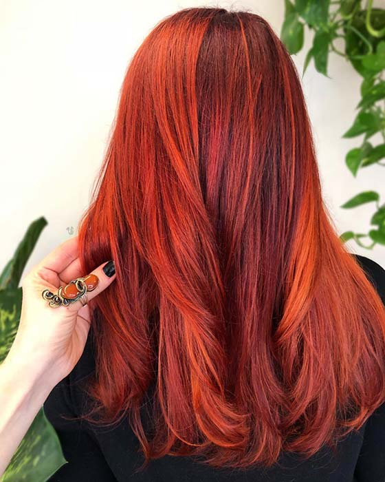 Coppery Red Highlights