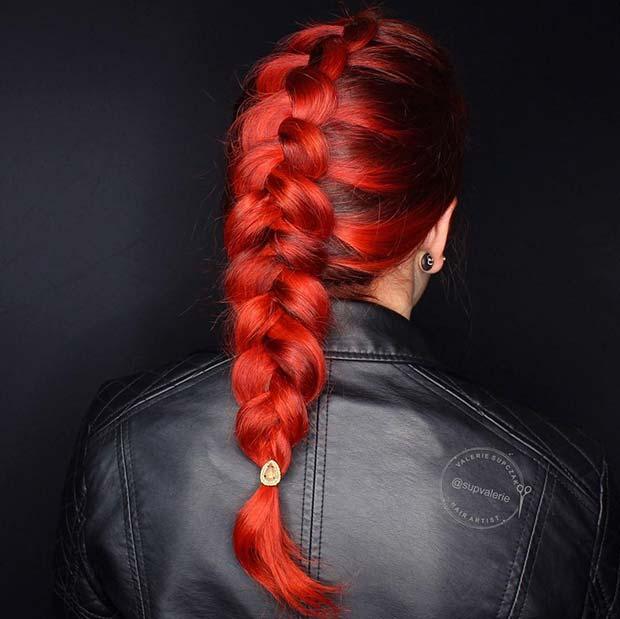 Vivid Red Hair Idea
