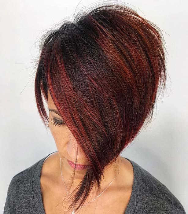 Short Asymmetric Hair Idea