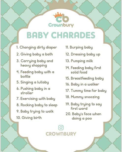 Baby Charades Game Idea