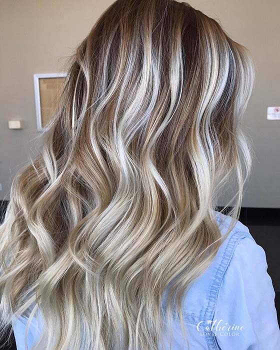 Beautiful Brown Hair with Blonde Highlights