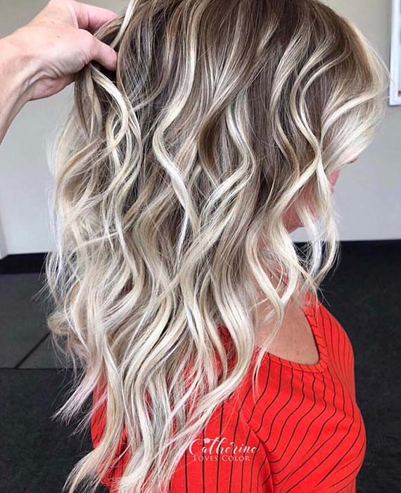 Beautiful Light Blonde Highlights