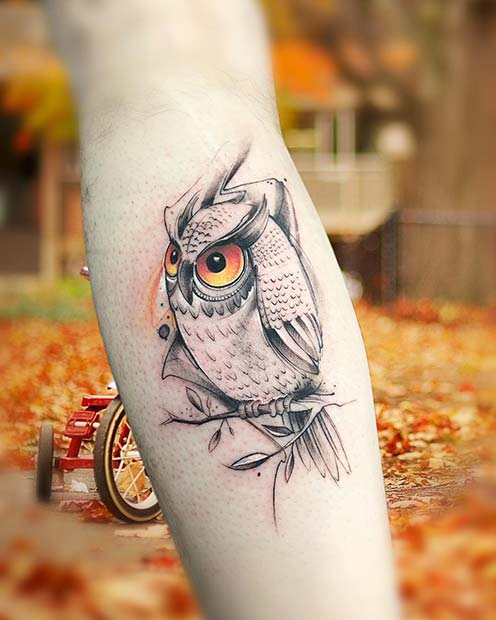 Big Eyed Owl Design