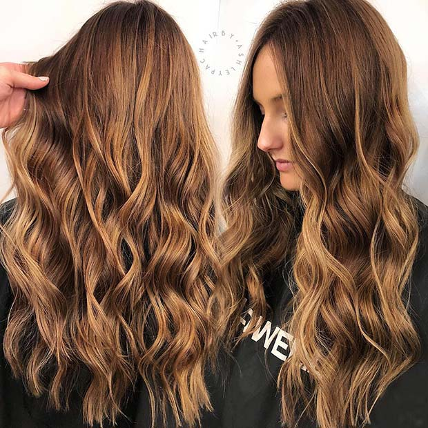 Bold Caramel Hair Color Idea