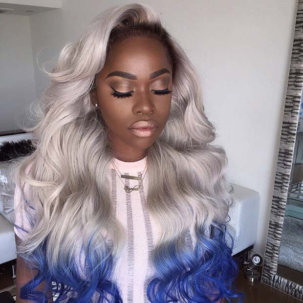 Bold Ombre Weave Hair