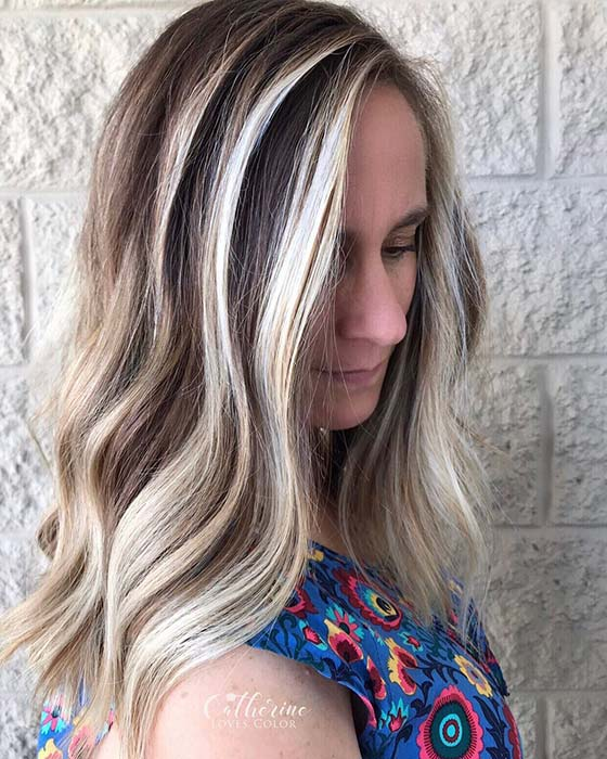 Bold and Bright Blonde Highlights