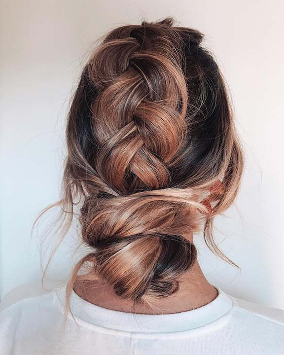 Braided Updo Hairstyle for Long Hair