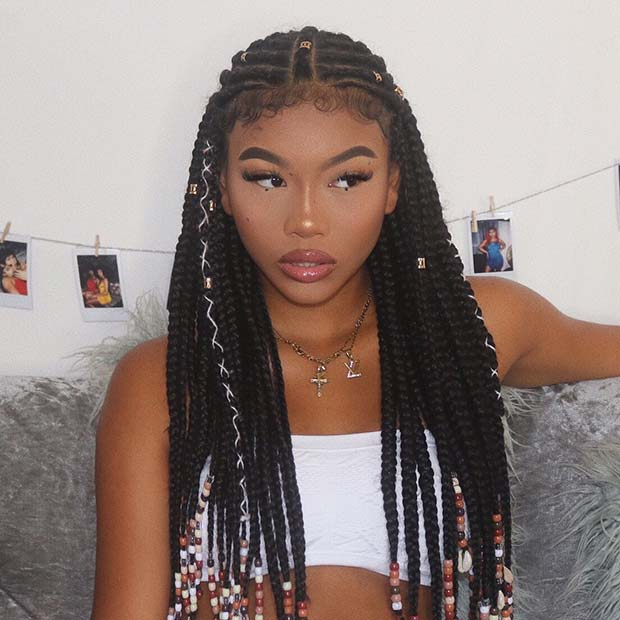 Braids with Cords, Cuffs and Beads