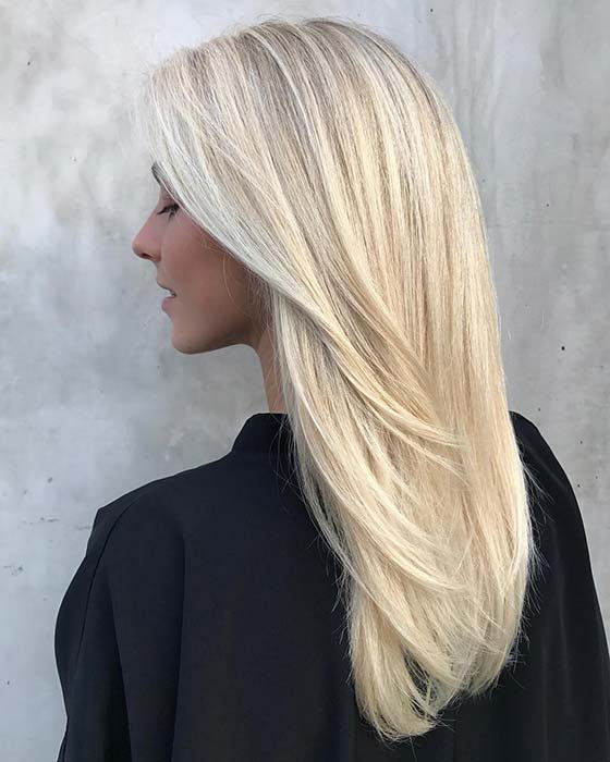 Bright Blonde Hairstyle with Subtler Layers