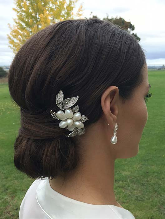 Formal Chignon Hairstyle for Brides