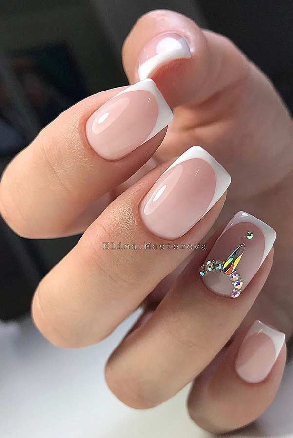Classy French Tip Nails