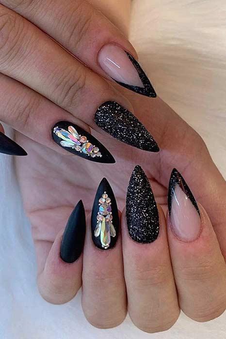 Classy Stiletto Nail Design