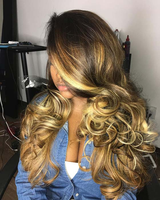 Curly Blonde Weave Hairstyle