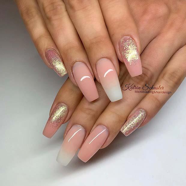 Elegant Baby Boomer Nails
