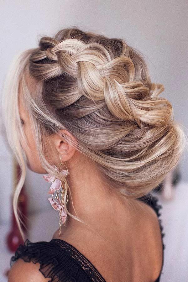 Elegant Braided Updo for Long Hair