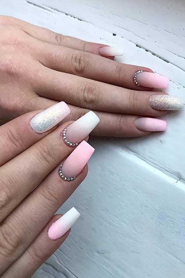 Elegant Matte Pink Nail Design