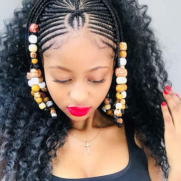 Fulani Braids and Curls