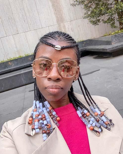 Fulani Braids with a Forehead Braid